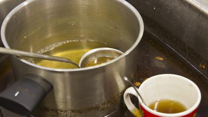 Dirty dishware