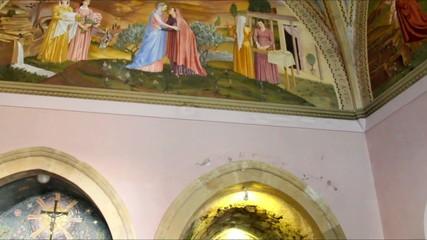 Interior of  holy visitation church in Ein Kerem, Jerusalem