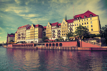 River Spree in Berlin and old architecture