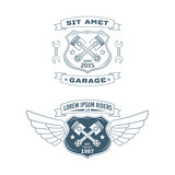 Fototapety Set of Motor vector badges