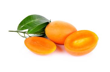Marian plum fruit isolate on white background(Mayongchid Maprang