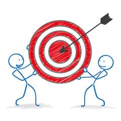 Stickman Red Target Arrow