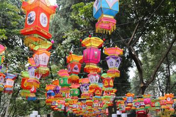 2015 temple fair in chengdu, china