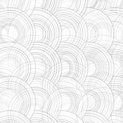 Vector Abstract Drawn Colorful Circles Background.