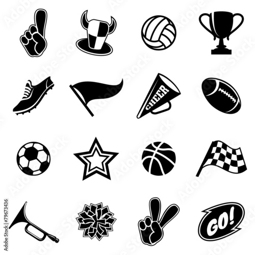 Sports icons and fans equipment - 79673436