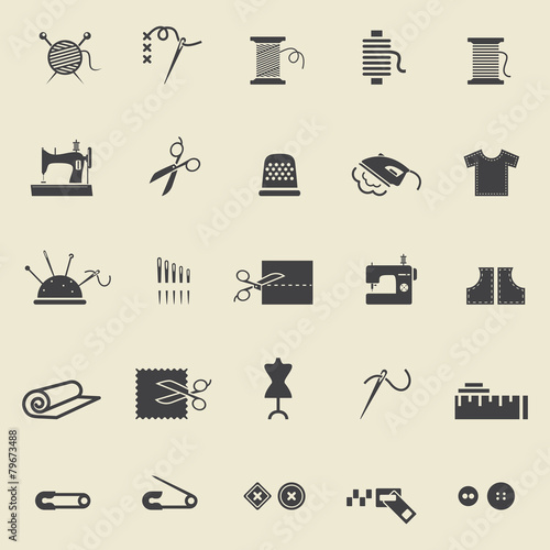 Sewing  icons - 79673488