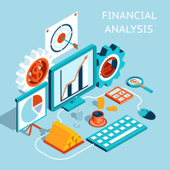 Vector 3D Financial Analysis Concept Design