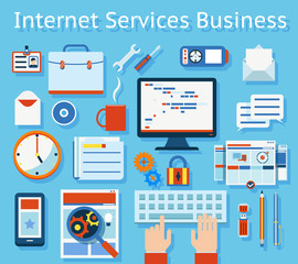 Internet Service Business Concept Graphic Design