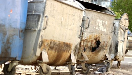 Damaged Dumpsters