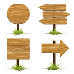 Vector wooden signs