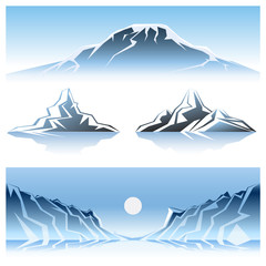 Winter Mountains Graphic Design