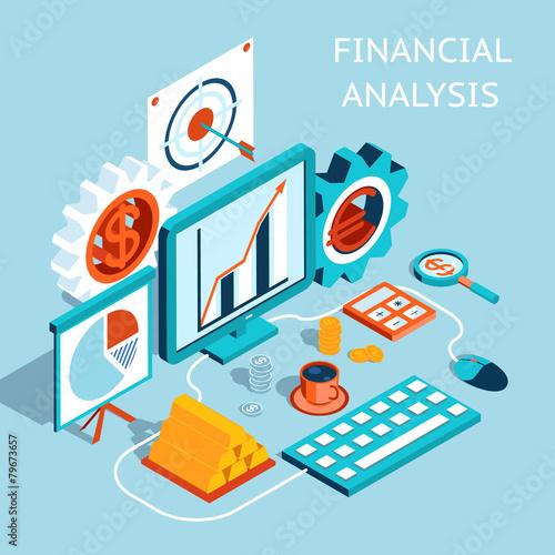 Vector 3D Financial Analysis Concept Design - 79673657