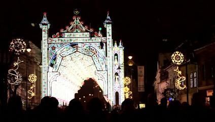 Fairy Lights Castle on Street