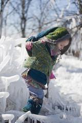 little girl traveler in fabulous clothes