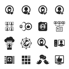 Social media and social network icons