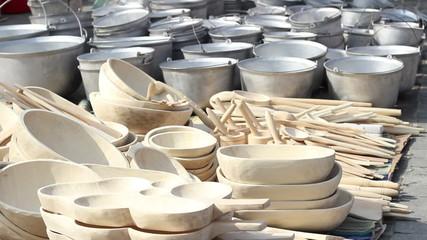 Handmade Wood Pots