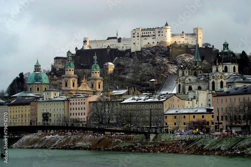 Austria,Salisburgo in inverno.