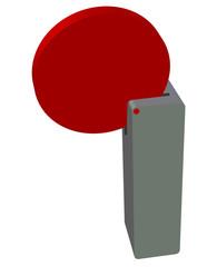 kırmızı renkli 3d arka plan