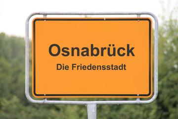 Ein Ortseingangsschild Osnabrück