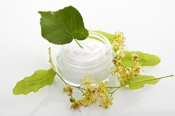 Lindenblüten Creme im Glas, Sommerlinde (Tilia platyphyllos)