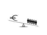 Euro people imbalance poster