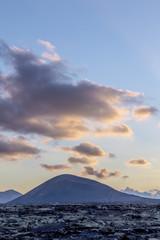 sunset at Timanfaya national park