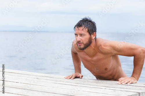 Portrait Of Handsome Man With No Shirt At The Sea Buy Photos Ap