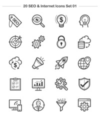 Line icon - SEO & Internet set 1, Bold