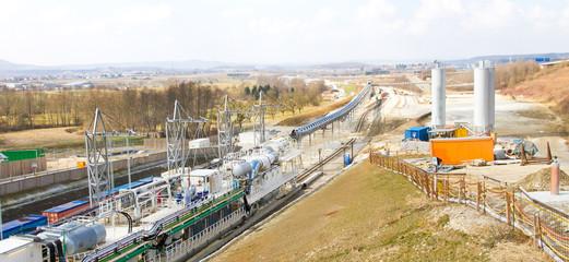 Tunnelbau am Aichelberg - Bahntrasse Suttgart 21