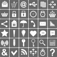 Basic Smartphone Icons Set. Vector Illustration