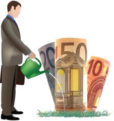 uomo innaffia 50 20 10 euro