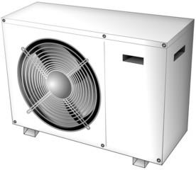 Heating pump air