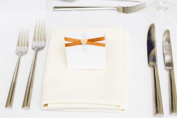 Luxury wedding gala table setting