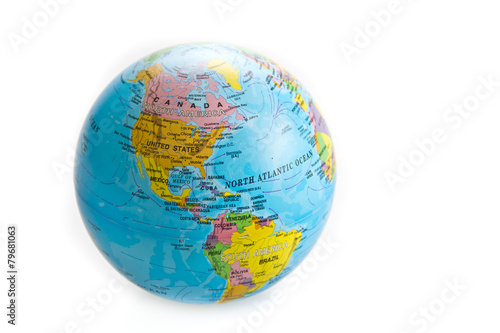 globe world toy isolated on white background - 79681063