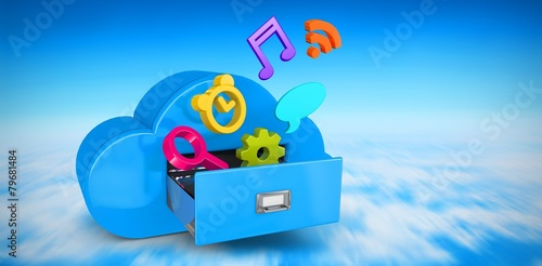 Composite image of cloud computing drawer - 79681484