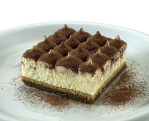 Tiramisu, italian dessert with coffee, cocoa and mascarpone