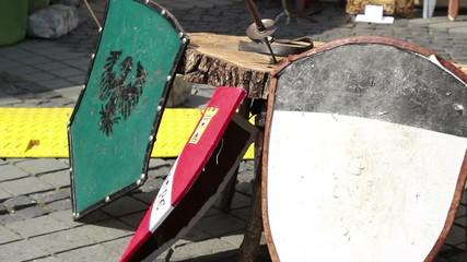 Resting Knights Shields