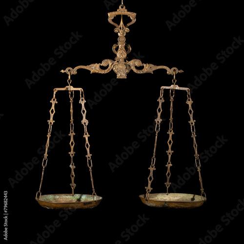 Leinwanddruck Bild Antique weighing scale