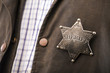 Close up of sheriff badge - 79682685