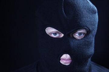 Portrait terrorist in masked
