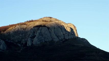 Shadows Cover Mountain Peak