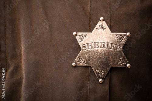 Close up of sheriff badge - 79682694
