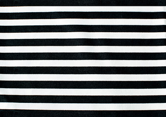 Black and white linear tablecloth