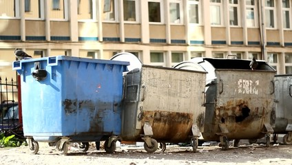 Slum Garbage Dumpsters