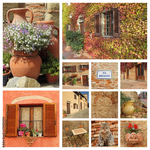 living in Tuscany composition