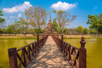 Wat Sa Si temple in Sukhothai, Thailand