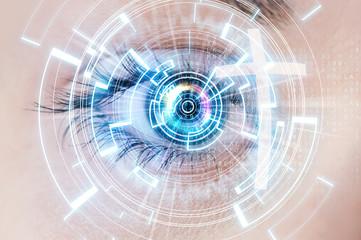 Digital eye and cross