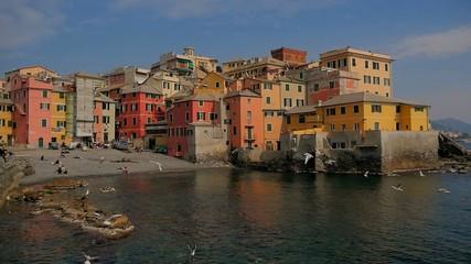 Liguria, Italy, Genoa Boccadasse cityscape