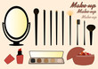 Cosmetics and Makeup Brushes - 79684417