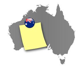 Australien Pinnwand